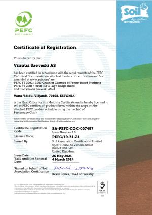 PEFC sertifikaat